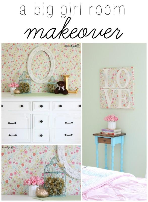 A Big Girl Room Makeover via House by Hoff
