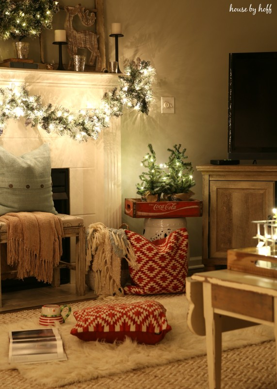 Christmas Home Tour at Night via House by Hoff13