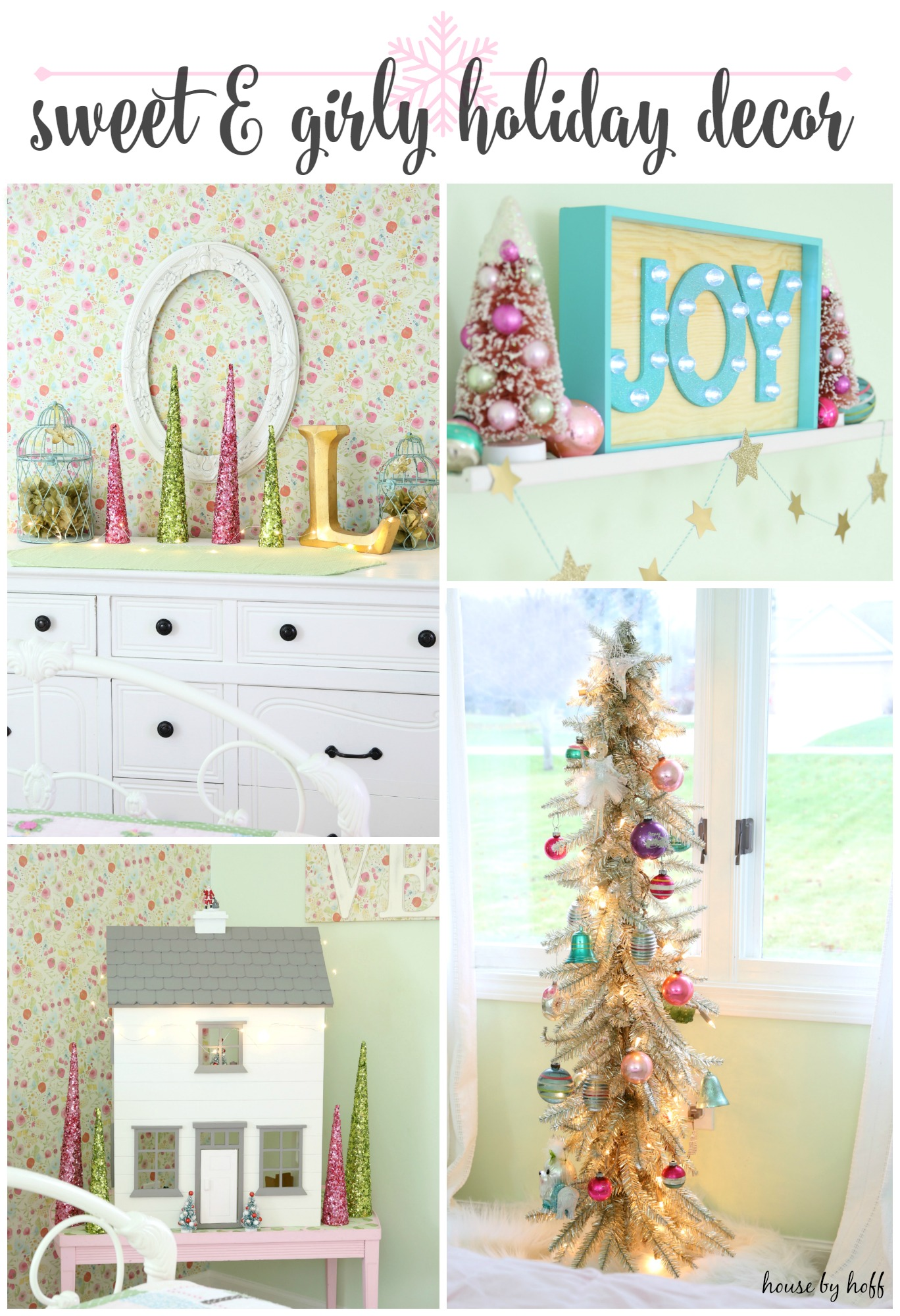 my sweet girl s room decorated for christmas house by hoff