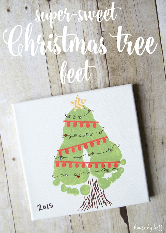 Super-Sweet Christmas Tree Feet poster.