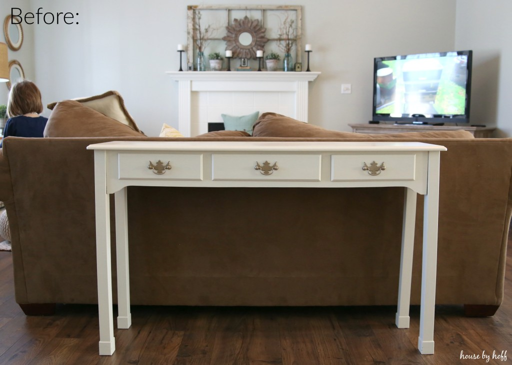 Console Table Makeover via House by Hoff