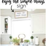 DIY Enjoy the Simple Things Sign via House by Hoff