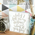 DIY Rustic Lettered Sign via House by Hoff