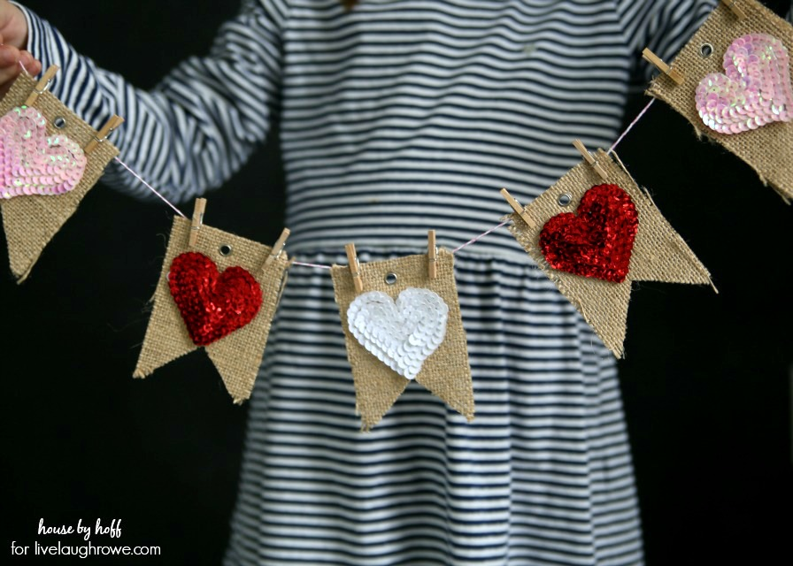 Easy Valentine Bunting 2