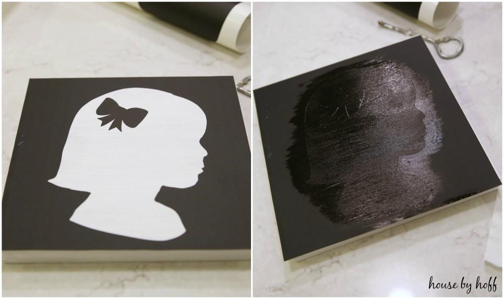 DIY Silhouette Art via House by Hoff