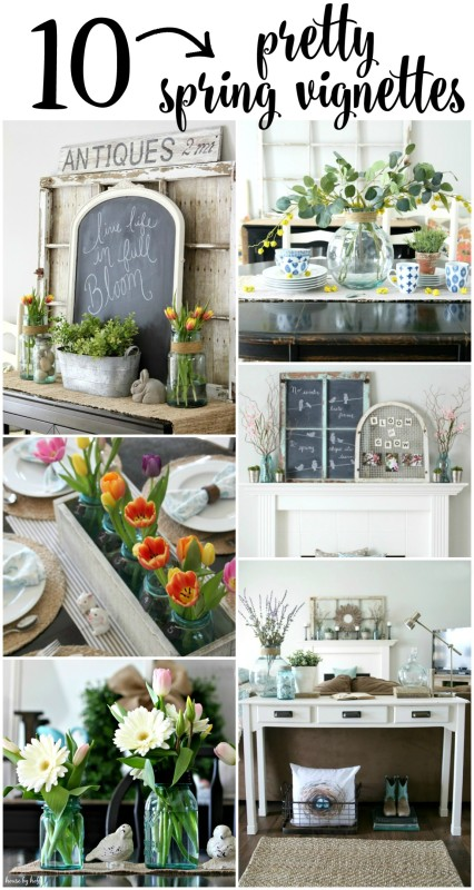 10 Pretty Spring Vignettes via House by Hoff