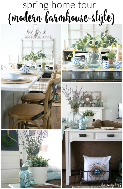 Modern Farmhouse Spring Home Tour via House by Hoff