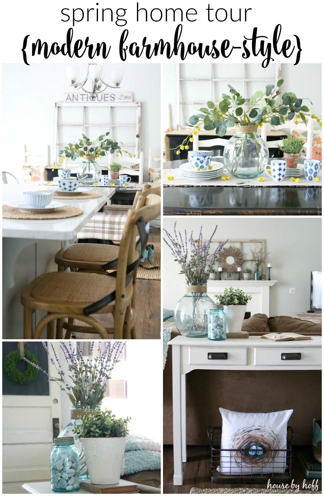 Modern Farmhouse Spring Home Decor Ideas: Hello Spring! My Spring 2016 Home Tour
