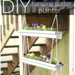 DIY Hanging Gutter Planter via House by Hoff