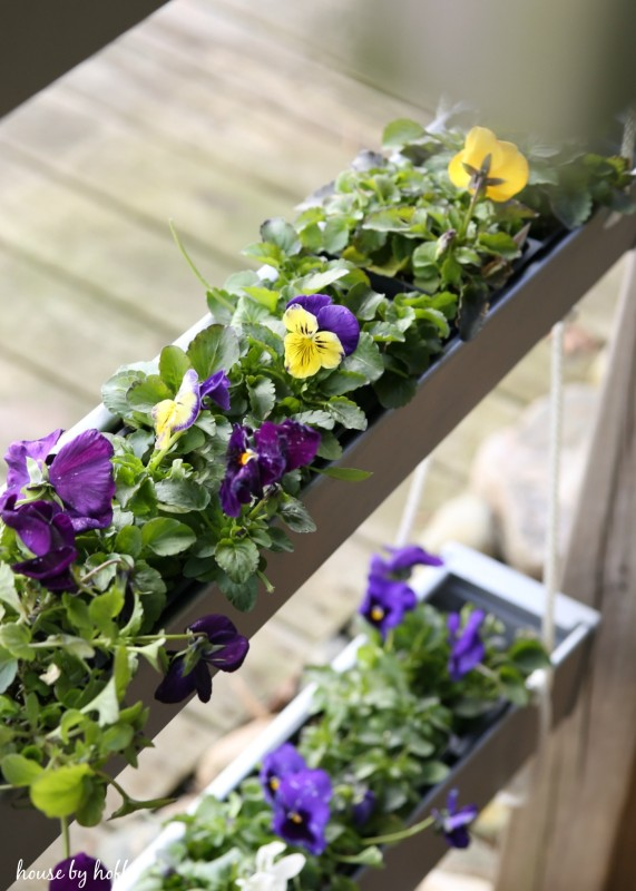 DIY Hanging Gutter Planter via House by Hoff