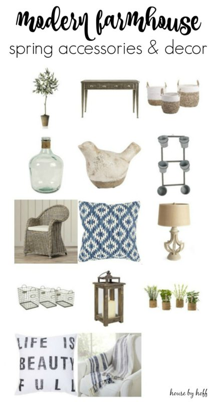 Modern Farmhouse Spring Accessories and Decor