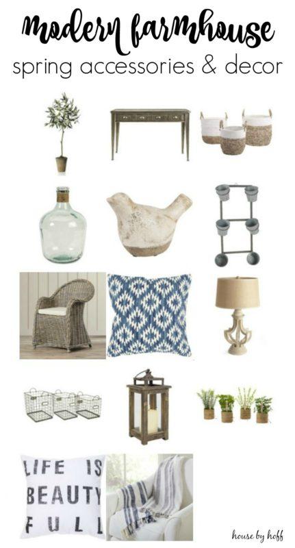 Modern Farmhouse Spring Accessories and Decor