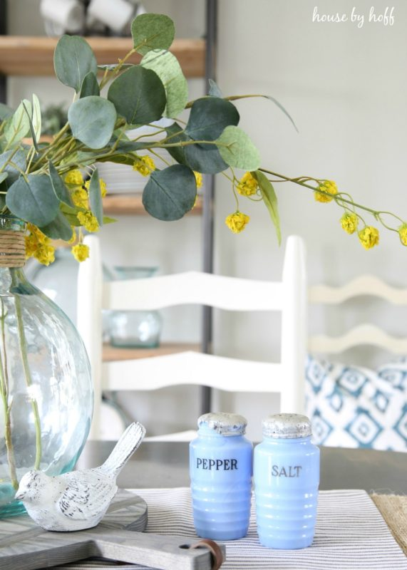 Vintage Pops of Blue via House by Hoff2
