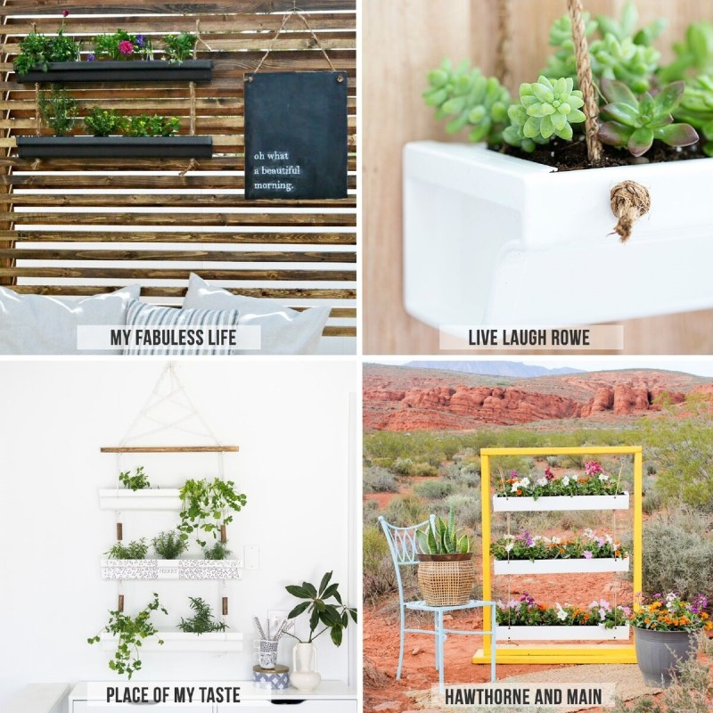 Hanging Gutter Planters