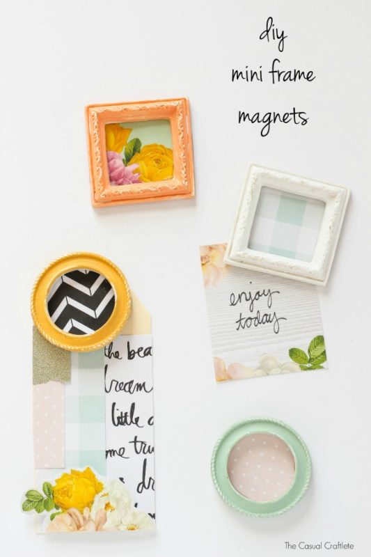 DIY-Mini-Frame-Magnets-from-TheCasualCraftlete.com_