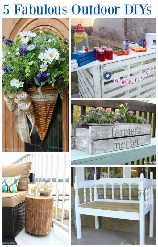 A poster of DIY outdoor projects.