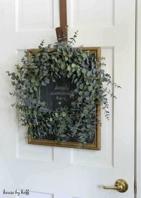 A Chalkboard Backdrop for a Wreath