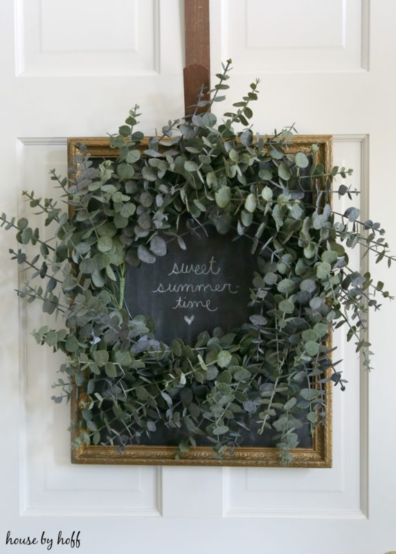A Chalkboard Backdrop for a Wreath