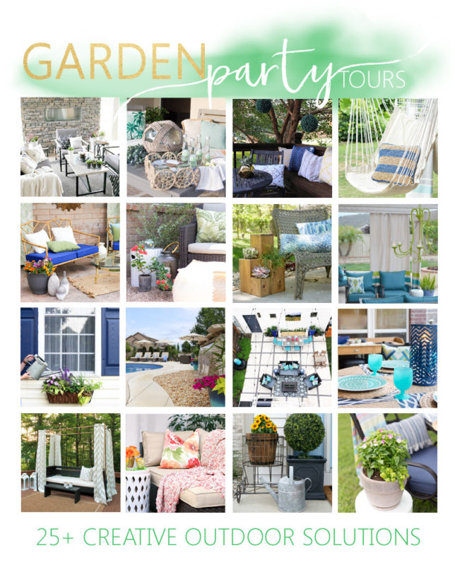 Collaboration of all the bloggers taking part in the garden party tour.