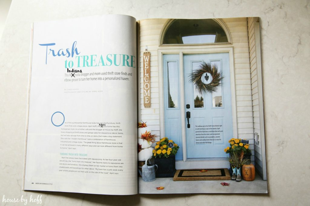 Our Home Feature in American Farmhouse Style Magazine House by Hoff