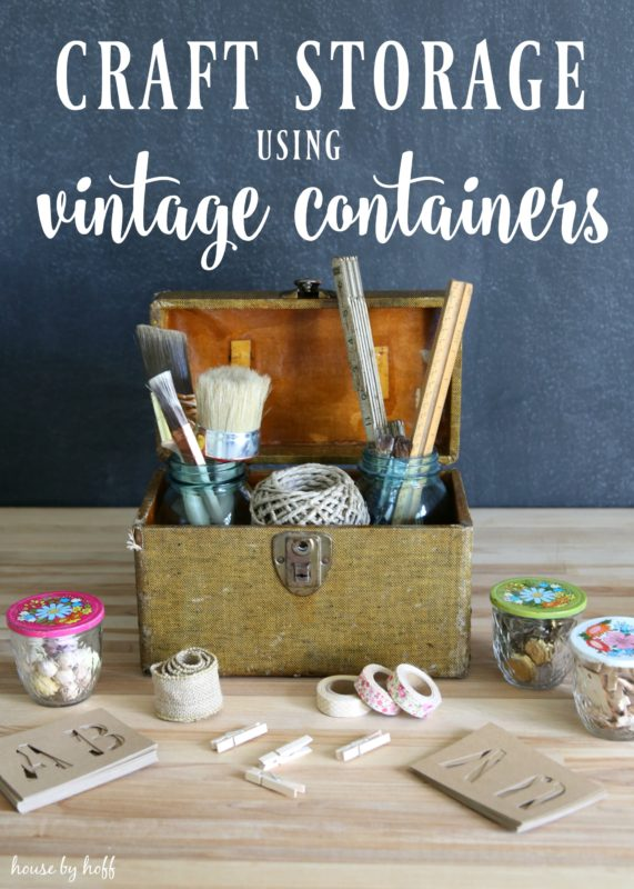 Craft Storage Using Vintage Containers via House by Hoff