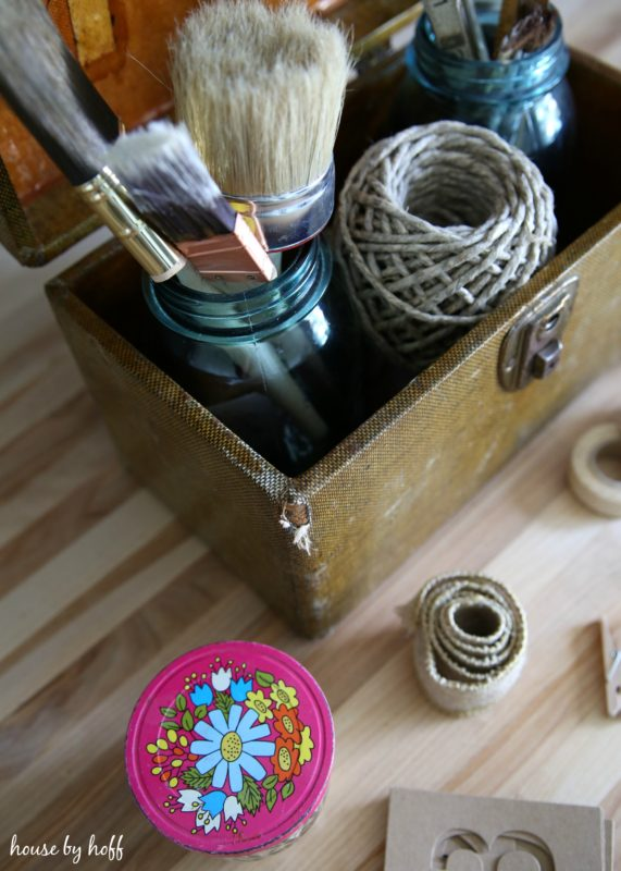 Craft Storage Using Vintage Containers via House by Hoff3