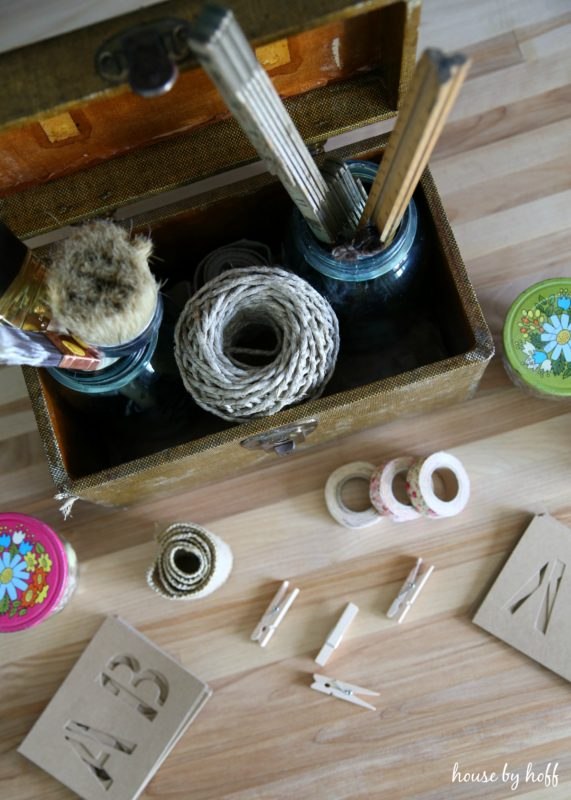 Craft Storage Using Vintage Containers via House by Hoff4