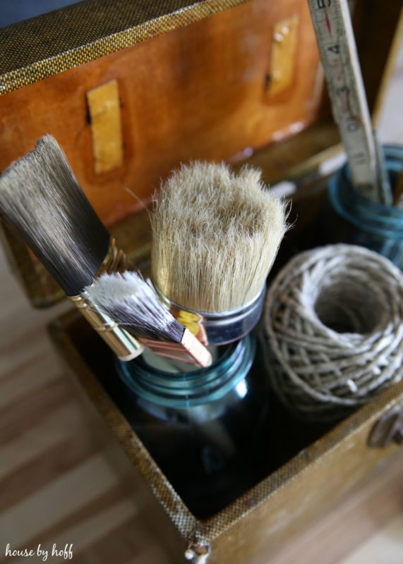 Craft Storage Using Vintage Containers via House by Hoff5