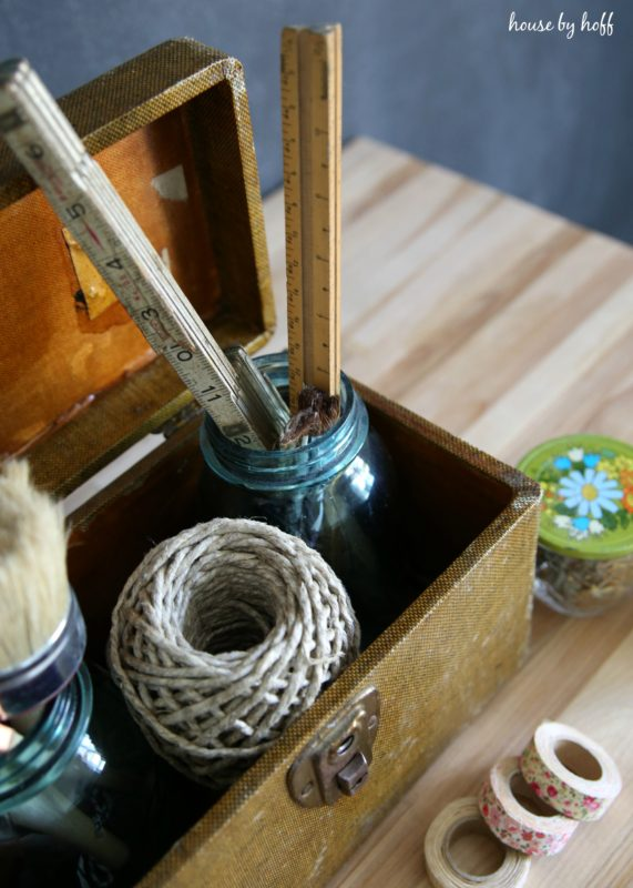 Craft Storage Using Vintage Containers via House by Hoff6
