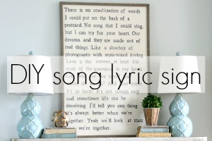 DIY Song Lyric Sign Button