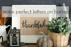 How to Make Perfect Letters on Burlap via House by Hoff6