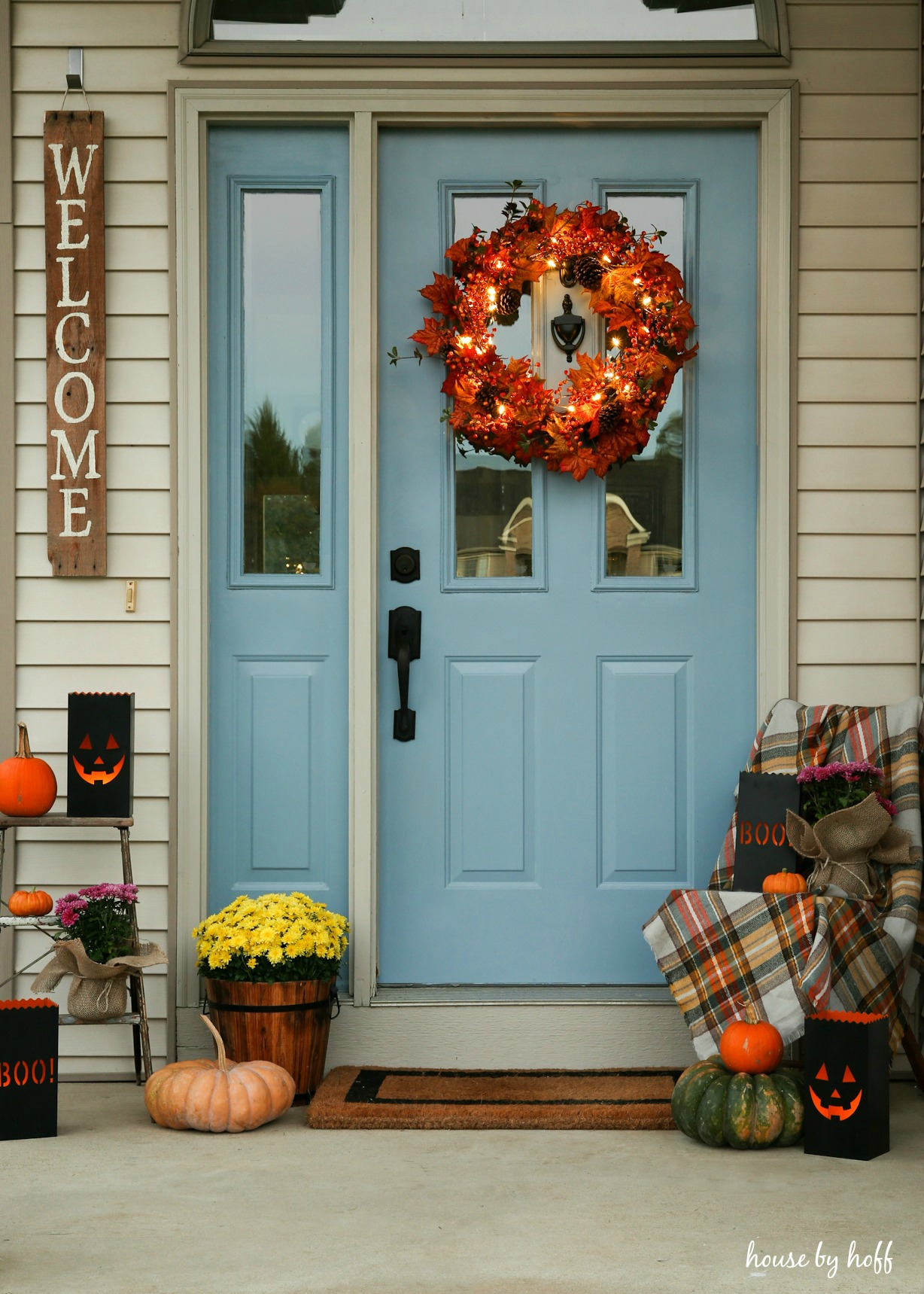Halloween Front Stoop House By Hoff
