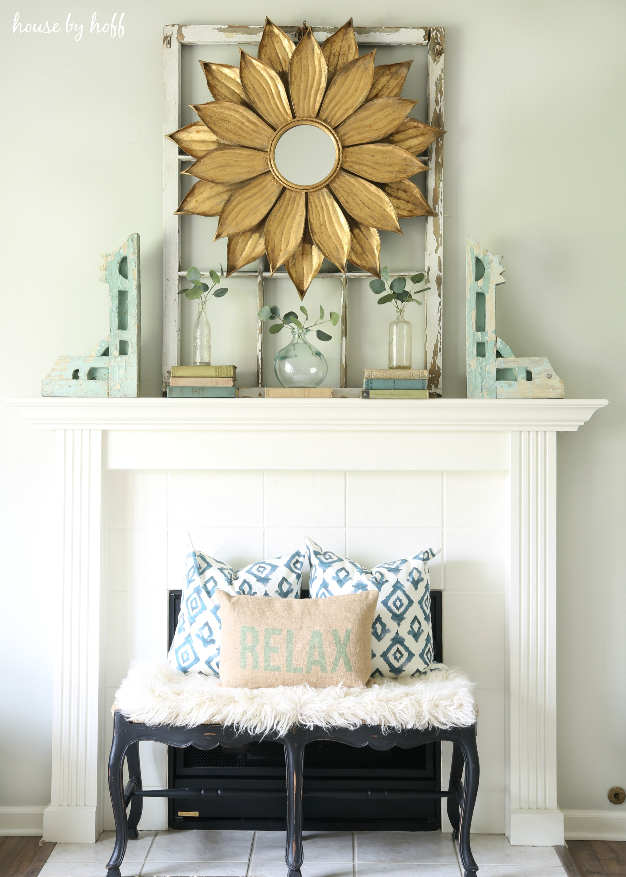 Old Wood Window As Backdrop for Decor