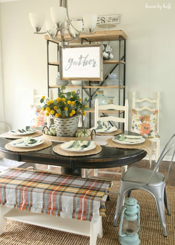 Thanksgiving Table and Dining Room via House by Hoff