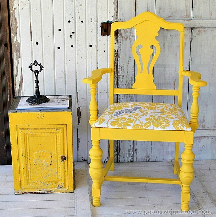 bold-yellow-chair-with-covered-seat-petticoat-junktion
