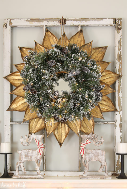 Classic Christmas Mantel via House by Hoff