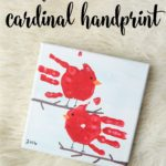 Super-Sweet Cardinal Handprint Gift