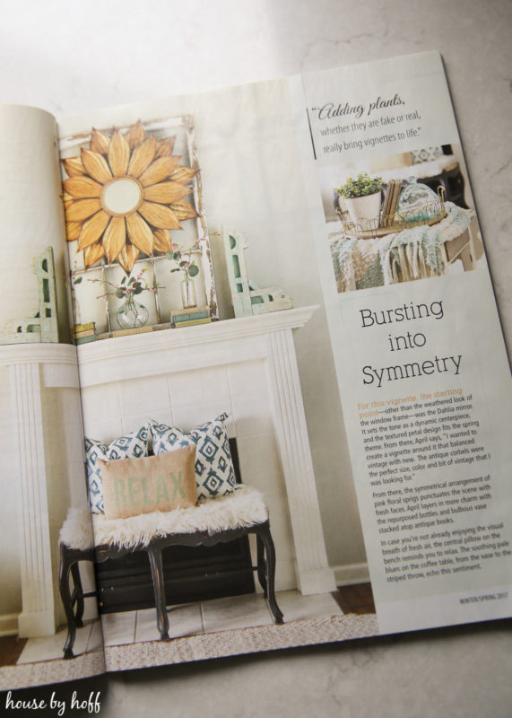 My tips for creating spring vignettes in american for American farmhouse style