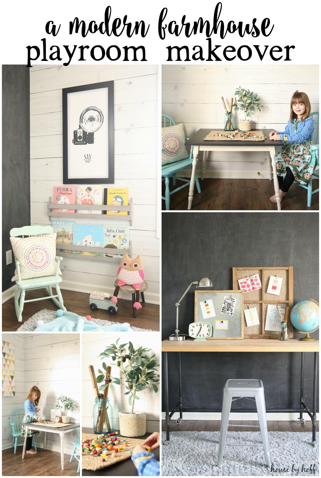 A Modern Farmhouse Playroom Makeover