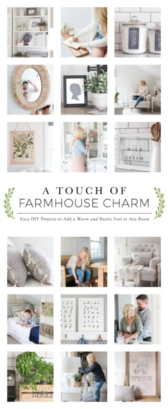 A Farmhouse Charm book cover.