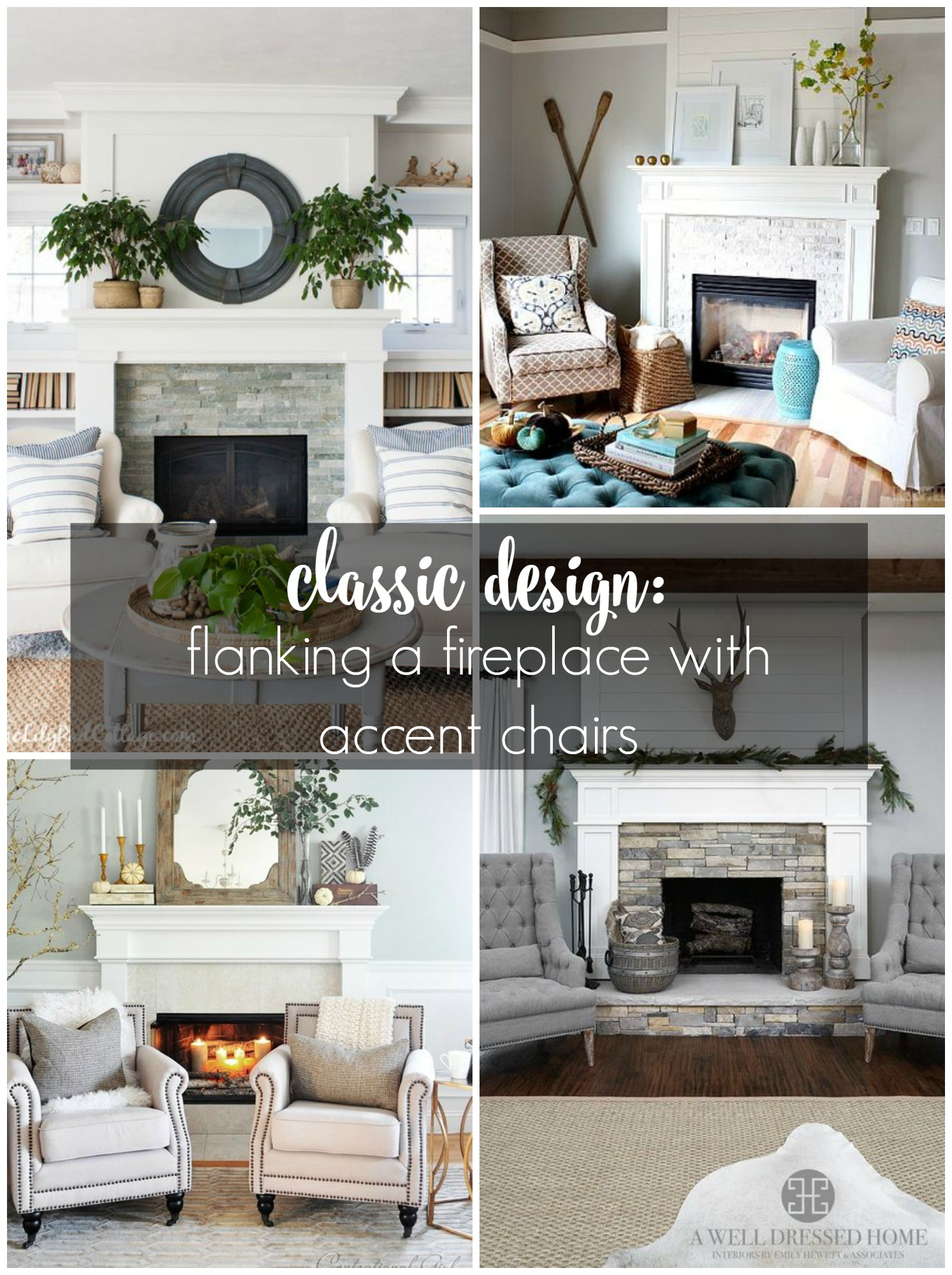 Classic Design: Flanking a Fireplace with Accent Chairs - House by ...