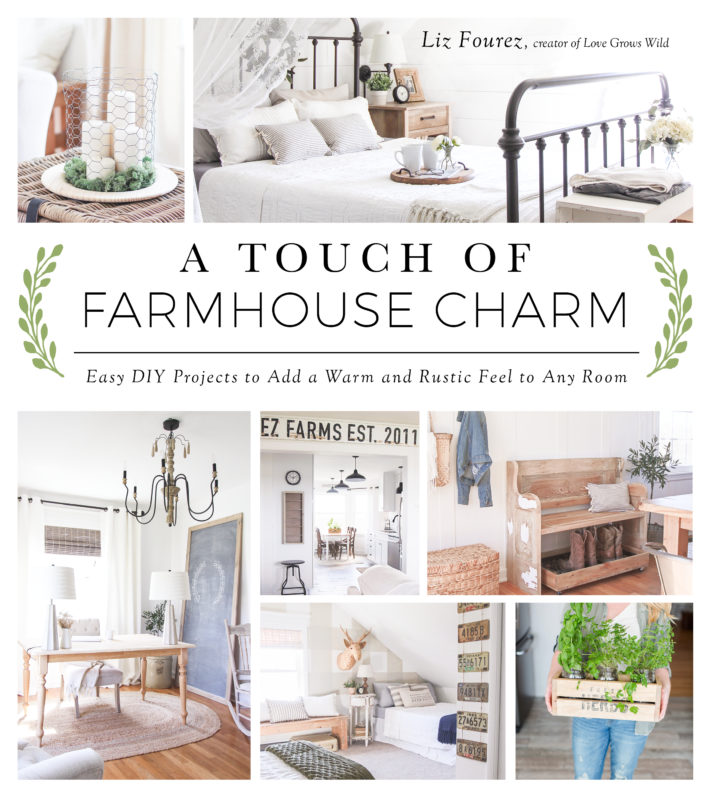 Front cover of book A Touch Of Farmhouse Charm.