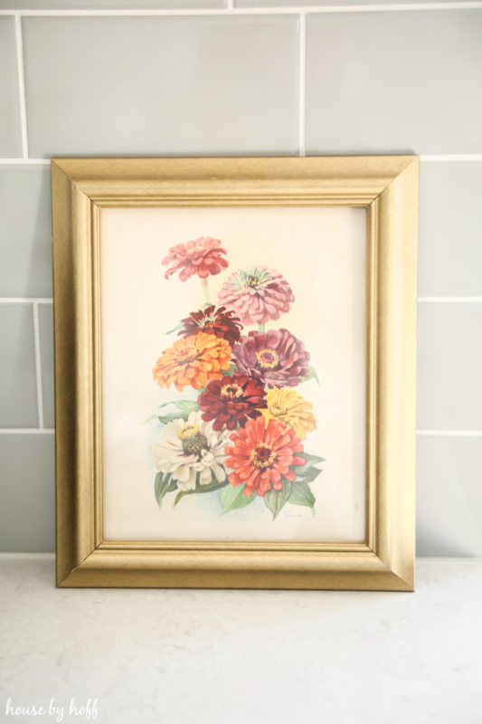 Vintage Floral Print Makeover via House by Hoff