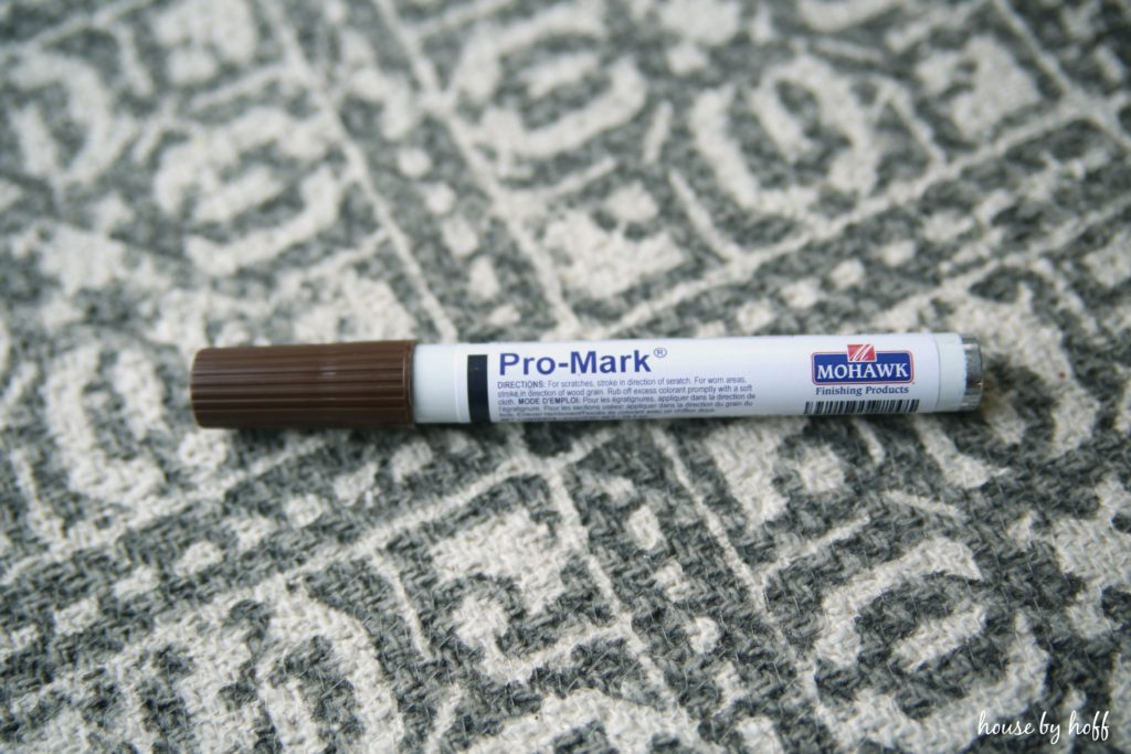 Pro Mark pen for scratches on the floor.