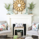 Summer Mantel Hop:  My Summer Mantel and Living Room