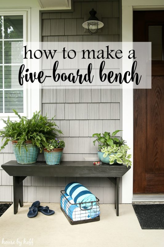 How to make a five board bench graphic.