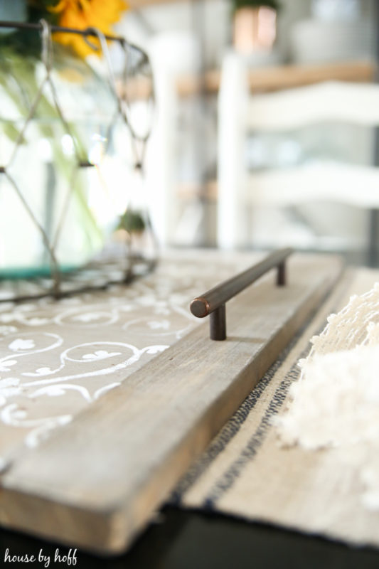 DIY Wooden Serving Tray via House by Hoff