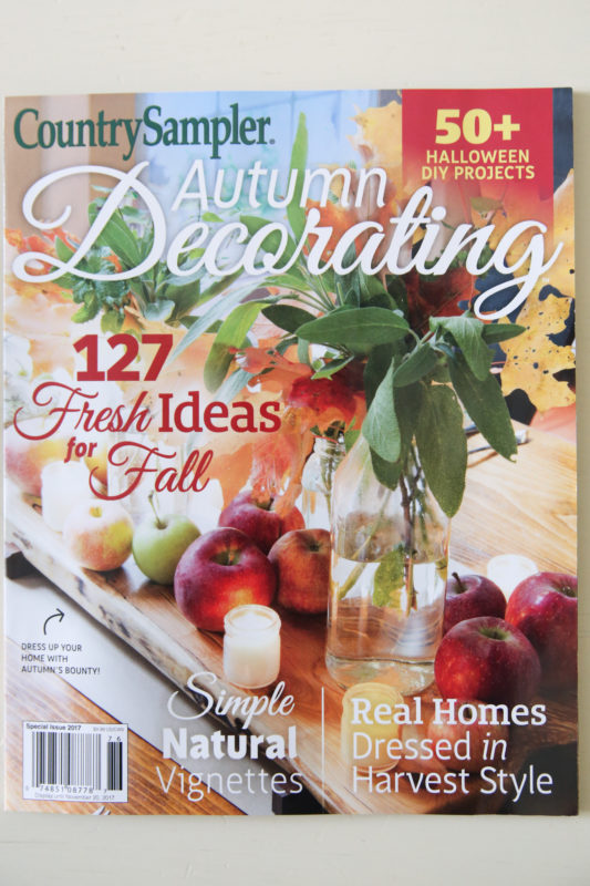 Our Home Featured in Country Sampler Autumn Decorating Issue - House ...