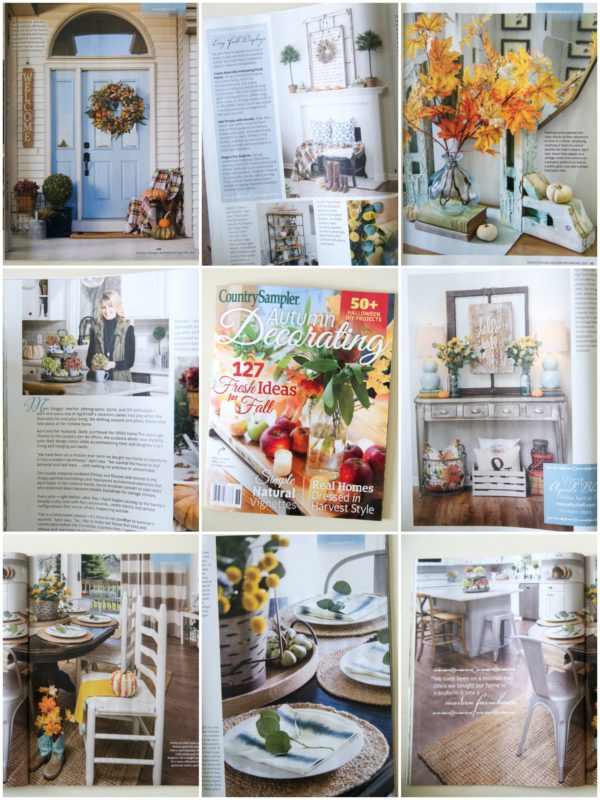 Our Home Featured In Country Sampler Autumn Decorating Issue House By Hoff