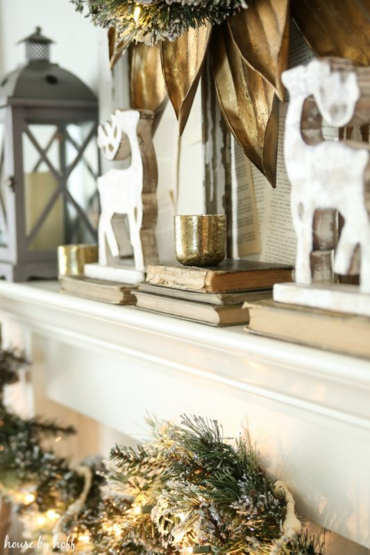 Cozy and Neutral Holiday Mantel via House by Hoff